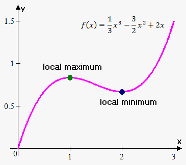 what are local maximums and minimums